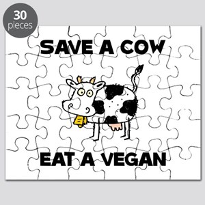 Save Cow Vegan Puzzle