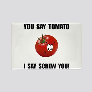 Say Tomato Rectangle Magnet (10 pack)