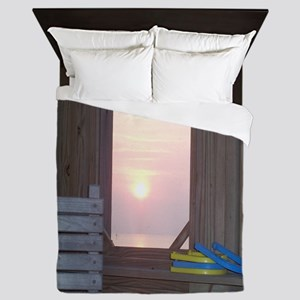 Sunset and Horseshoes Queen Duvet
