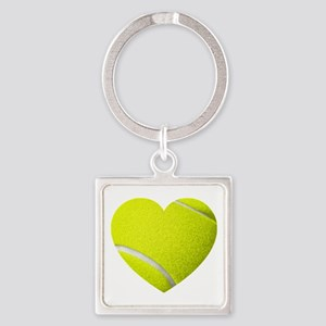 Tennis Heart Keychains