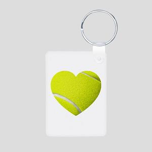 Tennis Heart Keychains