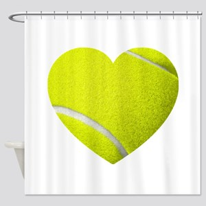 Tennis Heart Shower Curtain