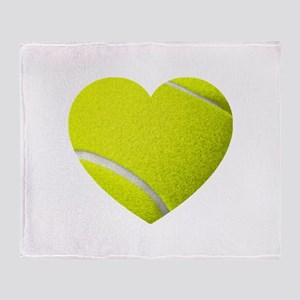 Tennis Heart Throw Blanket