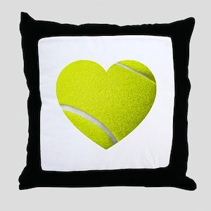 Tennis Heart Throw Pillow