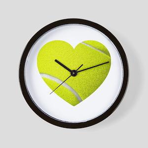 Tennis Heart Wall Clock
