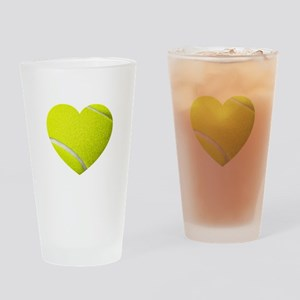 Tennis Heart Drinking Glass