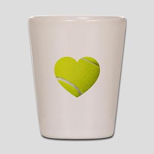Tennis Heart Shot Glass