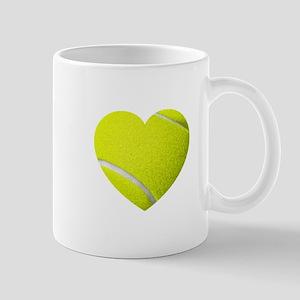 Tennis Heart Mug