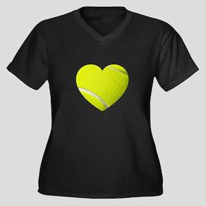 Tennis Heart Plus Size T-Shirt
