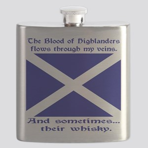 Scottish Blood Whisky St Andrew Flask