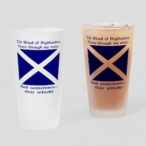 Scottish Blood Whisky St Andrew Drinking Glass