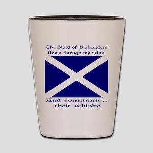 Scottish Blood Whisky St Andrew Shot Glass