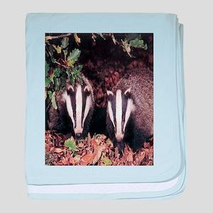 Badgers baby blanket