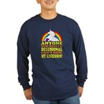 Funny Unicorn (vintage distressed) Long Sleeve Dar