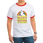 Funny Unicorn (vintage distressed) Ringer T