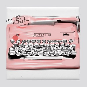 Paris Typewriter Tile Coaster