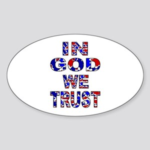 In God camo Oval Sticker