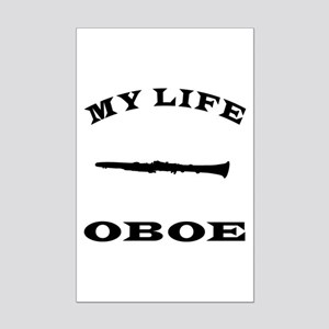 My Life Oboe Mini Poster Print