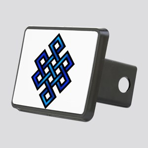 Endless Knot - Blue in Black Hitch Cover