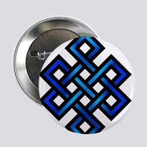 """Endless Knot - Blue in Black 2.25"""" Button"""