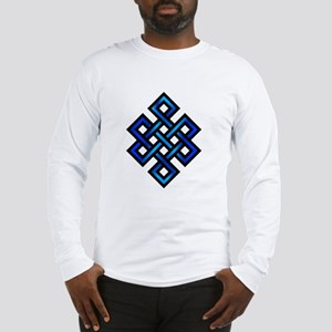 Endless Knot - Blue in Black Long Sleeve T-Shirt