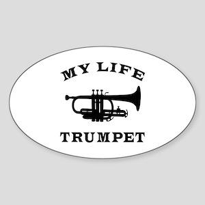 My Life Trumpet Sticker (Oval)