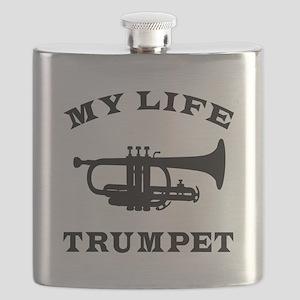 My Life Trumpet Flask