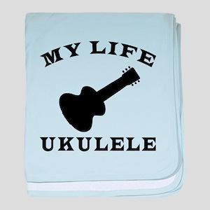 My Life Ukulele baby blanket
