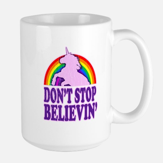 Dont Stop Believin in Unicorns (Distressed) Mug