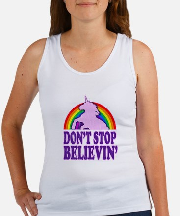 Dont Stop Believin in Unicorns (Distressed) Tank T