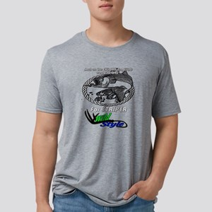 Striper chasing an eel Mens Tri-blend T-Shirt