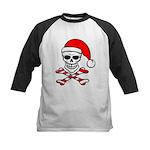 Santa Skull & Crossbones Kids Baseball Jersey