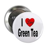 I Love Green Tea Button