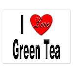 I Love Green Tea Small Poster