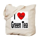 I Love Green Tea Tote Bag