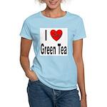 I Love Green Tea Women's Pink T-Shirt