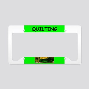 quilting License Plate Holder
