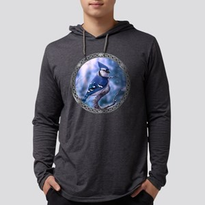 Blue jay Mens Hooded Shirt