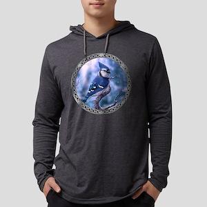 Blue jay Mens Hooded Shirt