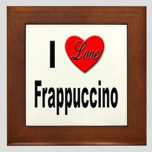 I Love Frappaccino Framed Tile