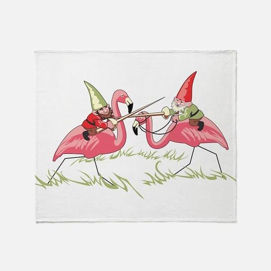 Jousting Gnomes Throw Blanket
