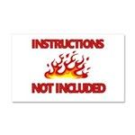 INSTRUCTIONS Car Magnet 20 x 12