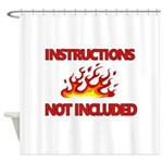 INSTRUCTIONS Shower Curtain