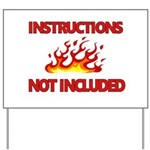 INSTRUCTIONS Yard Sign