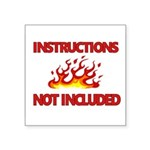 INSTRUCTIONS Sticker