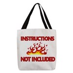 INSTRUCTIONS Polyester Tote Bag