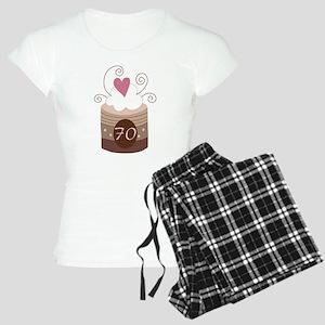 70th Birthday Cupcake Women's Light Pajamas