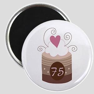 75th Birthday Cupcake Magnet