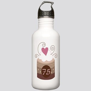 75th Birthday Cupcake Stainless Water Bottle 1.0L