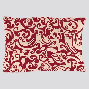 Chili Pepper & Linen Swirls Pillow Case